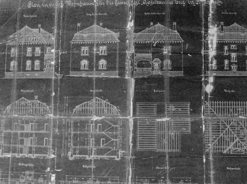 Bauzeichnung des Hauses